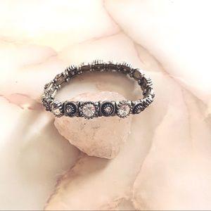 swarovski silver crystal stretch bracelet